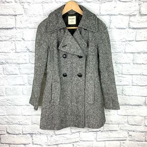 Old Navy Double-Breasted Wool Trench Coat B&W XS